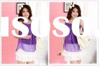 BFYMD8681 Lowest price for lady chiffon Knitting with ribbon tank top new style vest