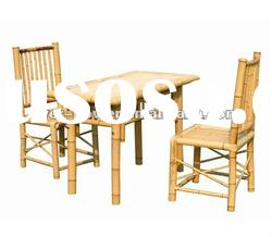 Bamboo dining table with chairs