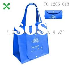 Blue bags,ecological hand bags shopping bags,bags can fold, made in China-1206013