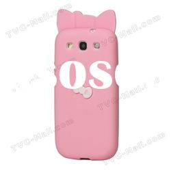Bowknots Hello Kitty Silicone Case for Samsung i9300 Galaxy S3