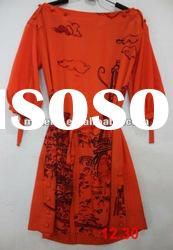 Brand fashion dress.silk casual dresses for women 2012