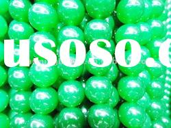 CH-LSB0087 Dyed Green jade beads 8mm size
