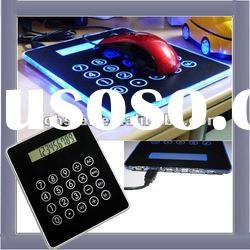 Calculator Mouse pad with 3 Port USB Hub and Mood Light