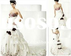 Chinese Design Two Tone Embroidered Wedding dress