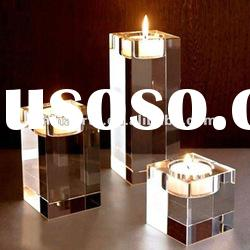 Clear Cube Floor Candle Holder for Wedding Souvenir