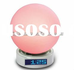 Sensor Touch Color Table Lamp with Alarm Clock and FM Radio