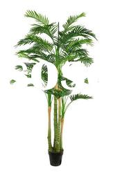 Combined 4 branches artificial mini palm tree