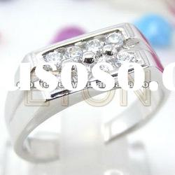 Costume high quality newest design fashion 925 sterling silver man's ring jewelry (R5434)