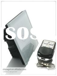 Crystal Glass Panel Remote Touch Wall Light Switch With LED Indicator