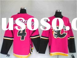 Custom girls' polyester ice hockey jerseys pink