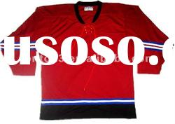 Custom polyester ice hockey jerseys for girls