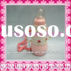 Cute Baby Glass Feeding Insulation Bottle