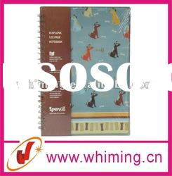 Cute spiral notebook with PP cover