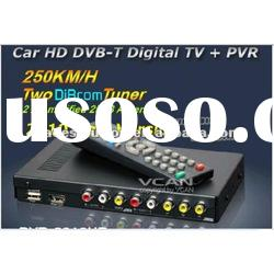DVB-T2010HD Car DVB-T Receiver MPEG4/H.264 2 tuner + antenna PVR
