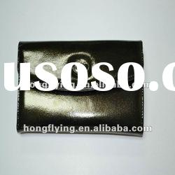 Durable and dust resistant artificial/pvc/Eco- leather wallet Lady's Business leather wallet
