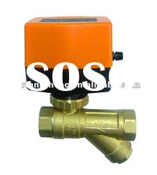 Dynamic balancing ball valve for automation water flow control, hvac system , water treatment