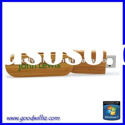 Ecological swivel wooden usb flash drive 16gb with logo