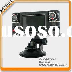 F20 2.7 Screen Dual Lens car black box video recorder gps