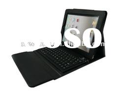 Factory Supply Silicone Bluetooth Keyboard PU Leather Case For iPad 2 3