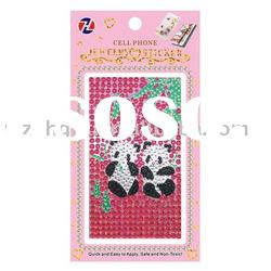 Fashion mobile phone diamond sticker for girls