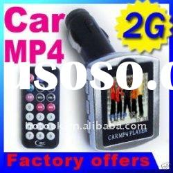 "Free express delivery! car mp4 player 1.5"" LCD 2GB Car MP3 MP4 Player With FM Transmitter"