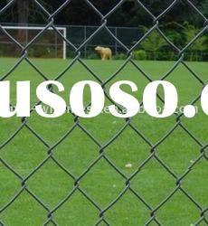 Galvanized or PVC coated Chain Link Fence(Factory)