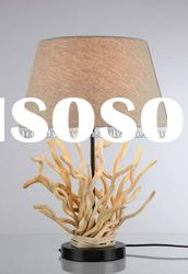 Hand carved wood table lamp modern table lamp for hotel