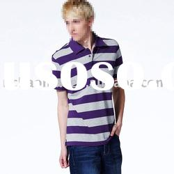 High quality stripe 100% cotton men's polo shirts