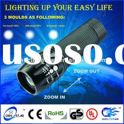 Hot Selling High Lumen Aluminum Zoom led Flashlight Torch