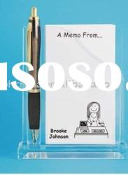 JMH-004 Personalized Acrylic Memo & Pen Holder