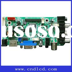 LCD TV motherboard with USB update
