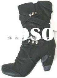 Lady's PU boots closeout, stocklot shoes