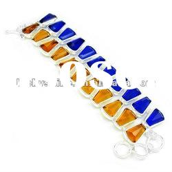 Latest best selling products silver 925 bracelet Brazil Citrine Blue Topaz