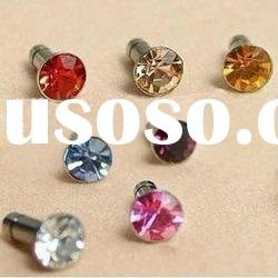 Latest diamond design Earphone Jack Dustproof Plug Replacement for Apple iPhone 4 4S