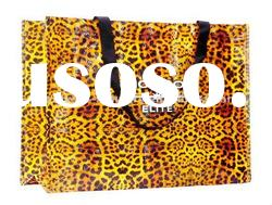 Leopard Printing Wooden Handle Shopping Bag