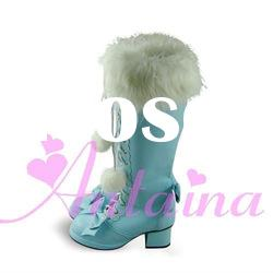 Lolita Gothic Princess Vivi Cosplay Nana boots with high heel 7cm, platform 3cm