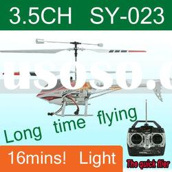 Long time flying! 3.5 ch gyro radio control helicopter,SY-023 rc helicopter with light