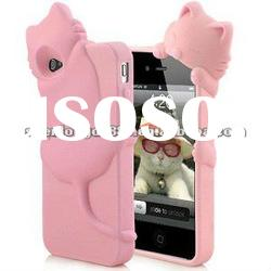 Lovely Kiki Cat cell phone 3d cases for iPhone 4 4S