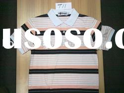 Men's Cotton Stripe Polo Shirt