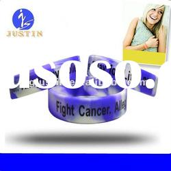 Mixture Color Silicone bracelet with debossed logo