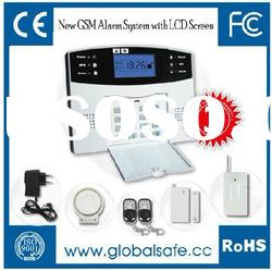 Mobile Call GSM Alarm System wireless with LCD screen