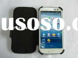 New Arrivial Leather Case For Galaxy S3 I9300 Flip Cover