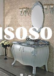 New Style Solid Wood Bathroom Furniture with Elegent Mirror