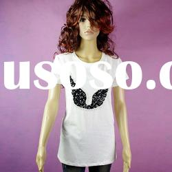 New style fashion sequin embroidery lady's t-shirt