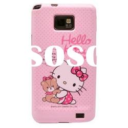 Newest model! cute hello kitty case for galaxy s2 i9100 silicon case