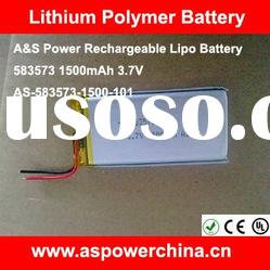 OEM 3.7V Rechargeable Battery 1500mAh Lipo Battery for Phone/RC TOY/RC Helicopter