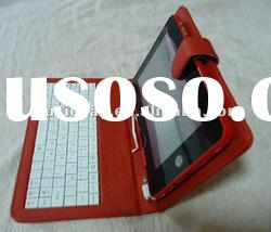 "OEM RED leather case with keyboard for 7"" tablet pc"