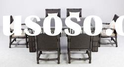 OUTDOOR WICKER FURNITURE SET NEW 6PC ALL WEATHER RESIN DINING SETS