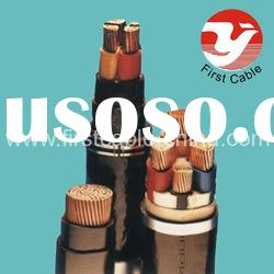 PVC cable Copper Aluminium core PVC insulated thick steel wire armored PVC sheathed power cable