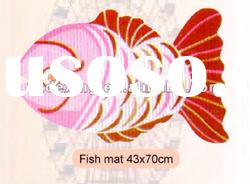 PVC foam non-slip bathroom mat/Fish mat/Bath mat